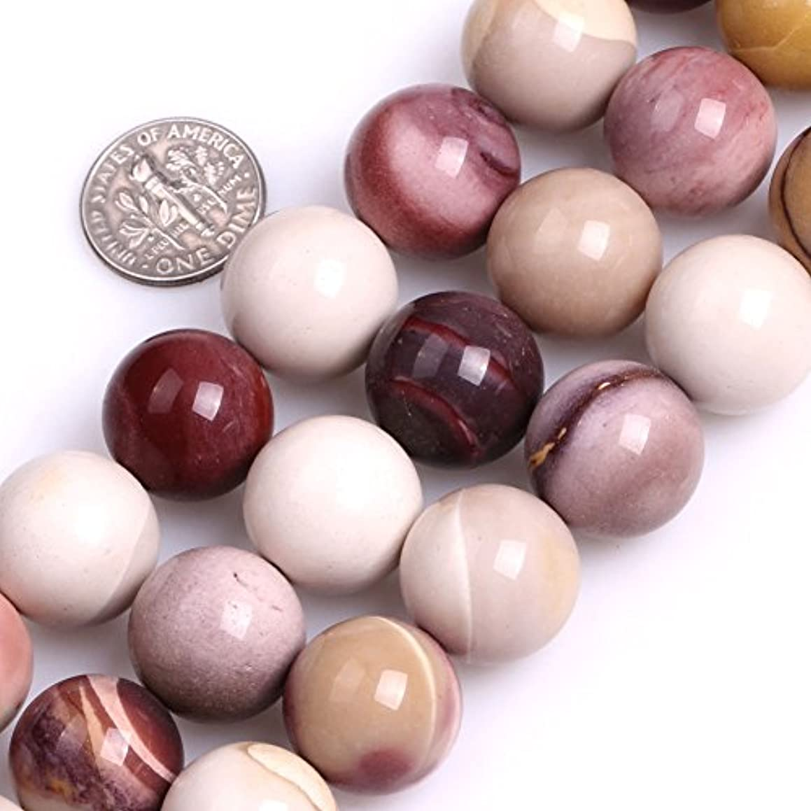 GEM-inside 16mm Round Smooth Twist Mookaite Jasper Beads For Jewelry Making Loose Beads 15