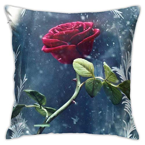 XCNGG Funda de almohadaBeauty Beast Throw Pillows Covers Pillow Case Modern Cushion Cover Square Pillowcase for Couch and Bed 18 x 18 Inch Indoor Decorative Pillows Double Sided Printing