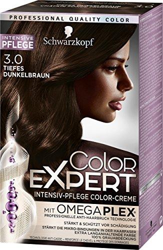 Schwarzkopf Color Expert Intensiv-Pflege Color-Creme 3.0 Tiefes Dunkelbraun, 3er Pack (3 x 167 ml)