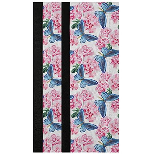Oarencol Juego de 2 fundas para manija de puerta, diseño de mariposas, color rosa, azaleas