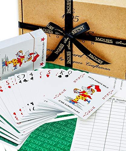 Jaques de Londres Canasta - Premium Luxury Plasti-Cote Jugando Cartas de Canasta - Completo con Hojas de Puntuación de Canasta