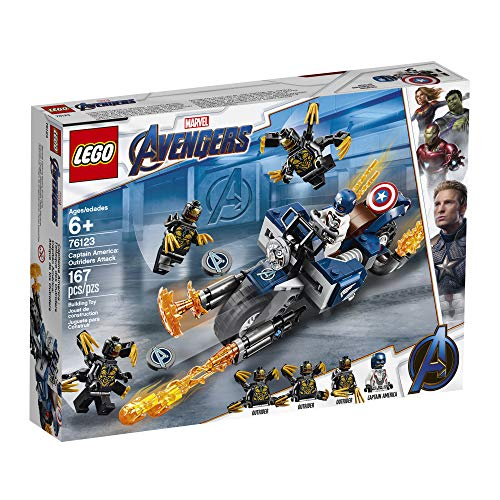 LEGO Marvel Avengers Captain America: Outriders Attack 76123 Building Kit (167 Pieces)