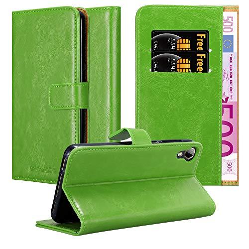 Cadorabo Hülle für HTC Desire 10 Lifestyle/Desire 825 in Gras GRÜN – Handyhülle mit Magnetverschluss, Standfunktion & Kartenfach – Hülle Cover Schutzhülle Etui Tasche Book Klapp Style