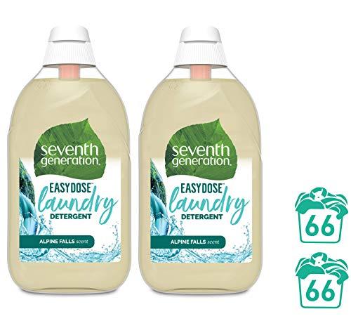 Seventh Generation Waschmittel EasyDose Alpine Falls, ultra konzentriertes Universalwaschmittel, 132 Wäschen, 2x 683ml