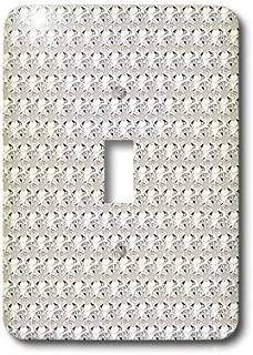3dRose lsp_24649_1 Clear Diamond Rhinestone Gem Print Toggle Switch, Multicolor