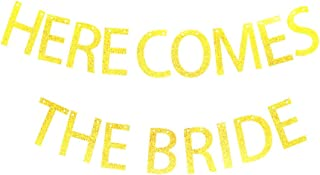 Here Comes The Bride Banner for Bachelorette,Wedding Party Decorations