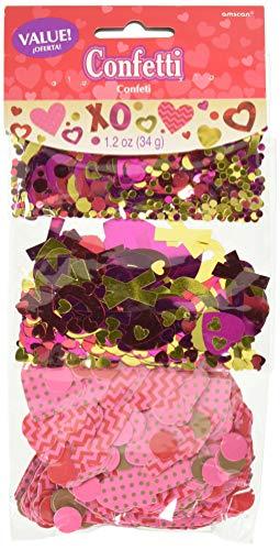 amscan 360199 31 G de Saint-Valentin Confettis (Lot de 3)