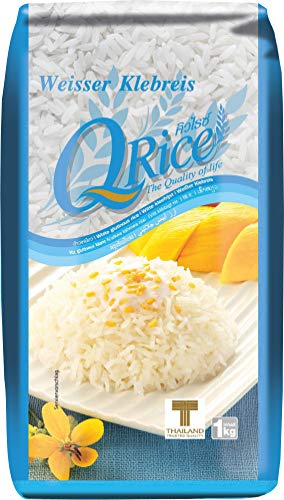 Q Rice Arroz Pegajoso 1000 g - Lot de 2