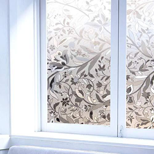 LMKJ Fensterfolie mit Tulpenmotiv, 3D-Effekt, statische Dekoration, blickdicht, Glasaufkleber, Fensterfolie, A51, 30 x 200 cm