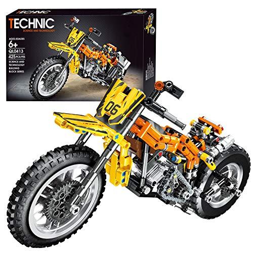 ZCXX Juego de construcción de 425 piezas Custom Motorcycle Set de construcción compatible con Lego Technic