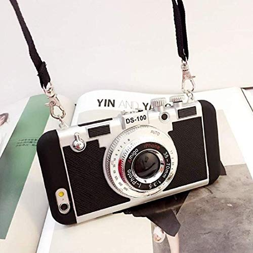 NMSLC Neue Emily in Paris 3D-Handyhülle Vintage Kamera für iPhone 11 PRO MAX/X/XS/MAX For iPhone 7/8 Black