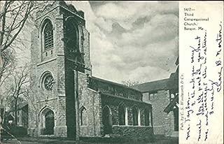Third Congregational Church Bangor, Maine Original Vintage Postcard