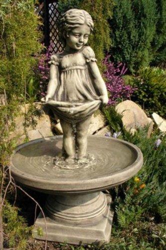 Vidroflor Brunnen STERNTALER, Steinguss Gartenskulptur, B/H: 40/66cm, wetterfeste Figur für den Außenbereich