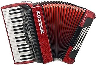 ACORDEON CROMATICO - Hohner (A1663) (Bravo III) (72 Bajos) (Rojo con Funda de Calidad)