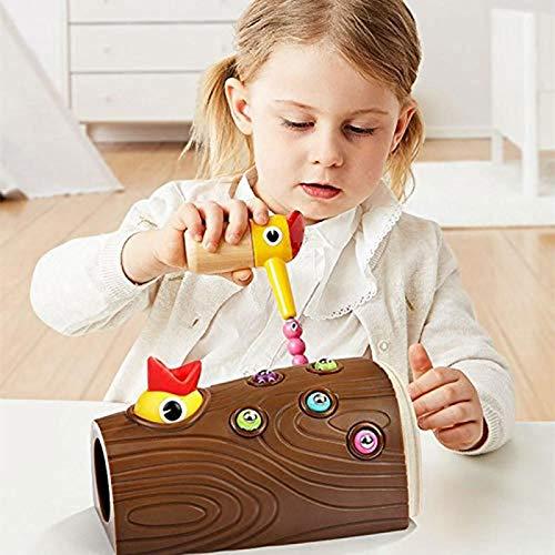Magnetische speelgoed specht Vroege Onderwijs Toy, Spcht vangen Bugs Voeding Spel, Educatief Leren Toy, Hongerige specht Speelgoed Gift voor Peuters Kids Jongens Meisjes