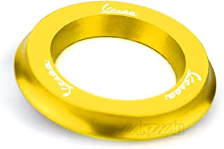 RONGLINGXING Powersports Teile Motorrad Zündschloss Ring Abdeckkappe CNC Aluminium Zubehör for Piaggio Vespa GTS 250 300 Sprint Primavera 125 150 LX150 (Color : Gold)