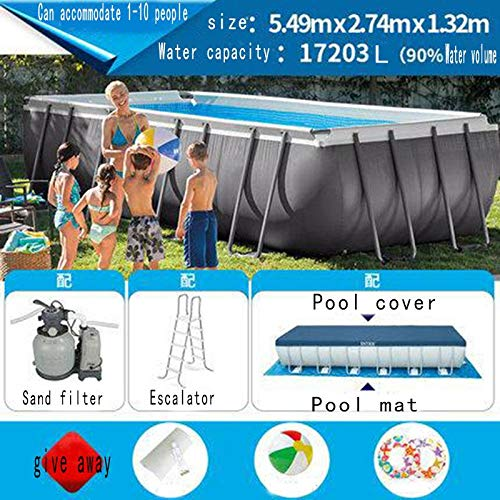 FFKL Metallrahmen-Pool/Großer Pool/Teich Familien-Pool, Runder Rahmen, Einfach Zu Montieren Und Zu Demontieren 549X274X132CM