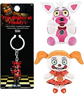 BabyFox Five Nights at Freddy's Fun Pack: Funtime Sister Location Collectible Plush Bundled with + Baby & Nightmare Foxy FNoF Foxy Pirate Figure Keychain 3pc Bundle