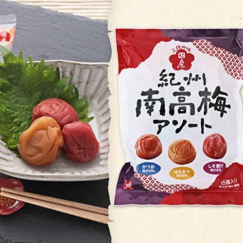 紀州南高梅 アソート 三種の味 もへじ 105g かつお梅 はちみつ梅 しそ漬け梅