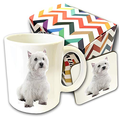 Razas De Perros. West Highland White Terrier- Juego De Tazas