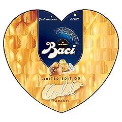 Idea Regalo - Baci Perugina Gold Limited Edition Cioccolatini Ripieni al Gianduia e Nocciola Scatola Cuore G, 100 grammi