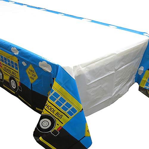 School Bus Tablecovers (2), Kindergarten Party Supplies, School Bus Birthday