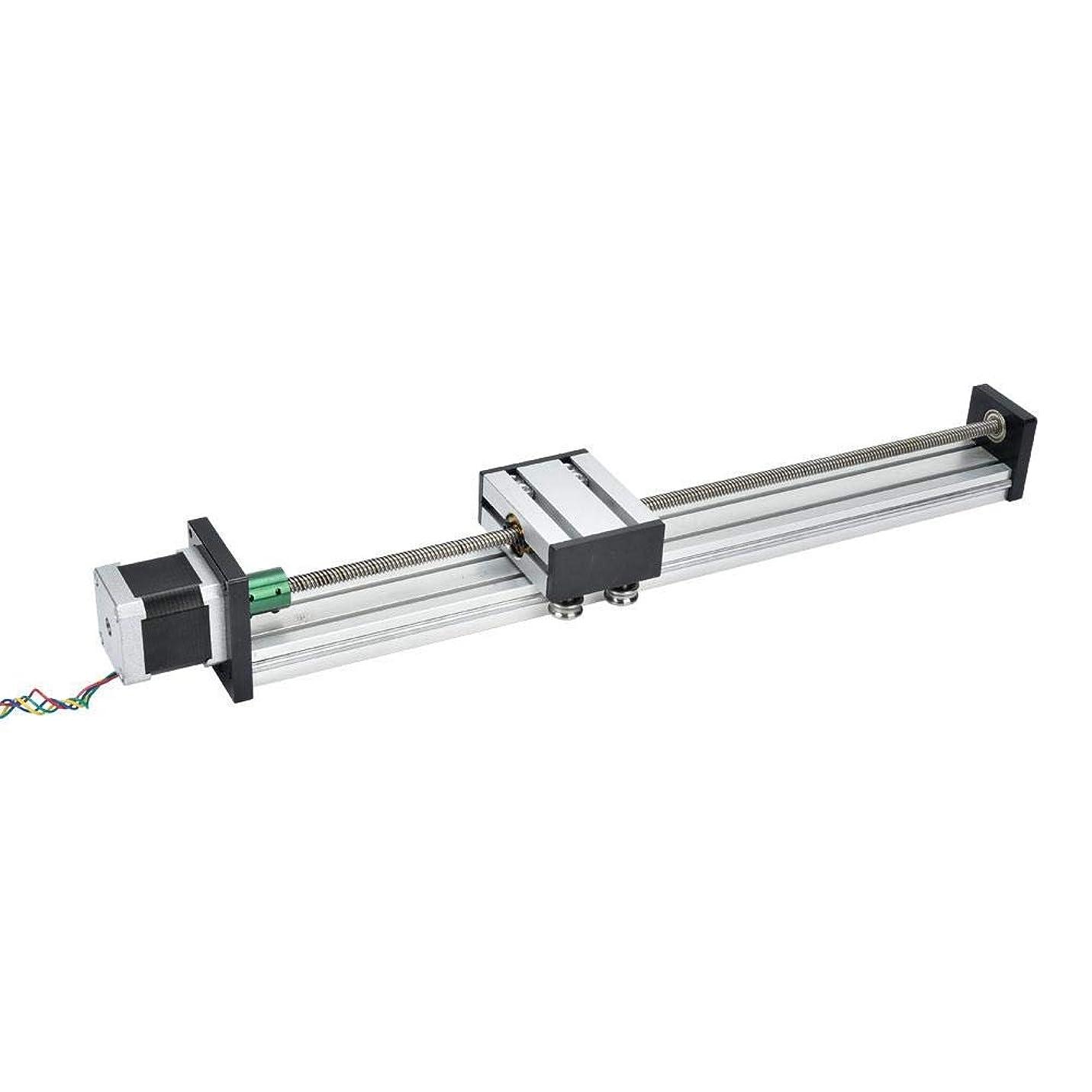 精神ソース粘液BXU-BG リニアガイドレール、ボールねじモーション表リニアガイドレールは、工作機械のオートメーション産業用の部品を交換する700ミリメートル効果的なストロークアルミ合金スライド(1605)