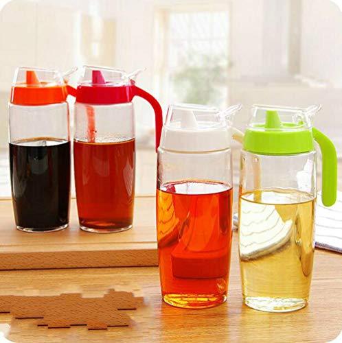 Aomerrt Grote Huishoudelijke Glazen Potje Met Handvat En Deksel Lek Olieverf Keuken Accessoires Kruiden Mason Potje Olie Fles Azijn Saus Fles