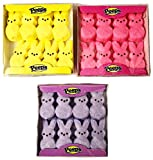 Marshmallow Peeps Pink, Purple, and Yellow Easter Bunnies 8 ct (Pack of 3) by Peeps