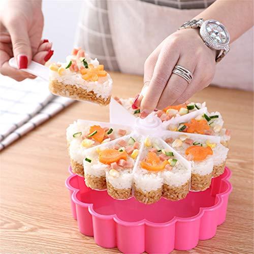 Sushi Mold Reisdreieck Bento Pressen Form für Japanisches Onigiri Maker Reisbällchen Fingerfood Dreieck dreieckig Schale Sushi Former Reisformer passt zu Algenblätter, 18,5 * 9 * 18,5 cm.