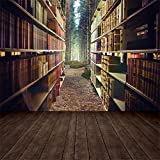 Old Wood Bookshelf Book For Library Study Child Portrait Photo Background Photography Backdrop Photocall Photo Studio A11 3x3m
