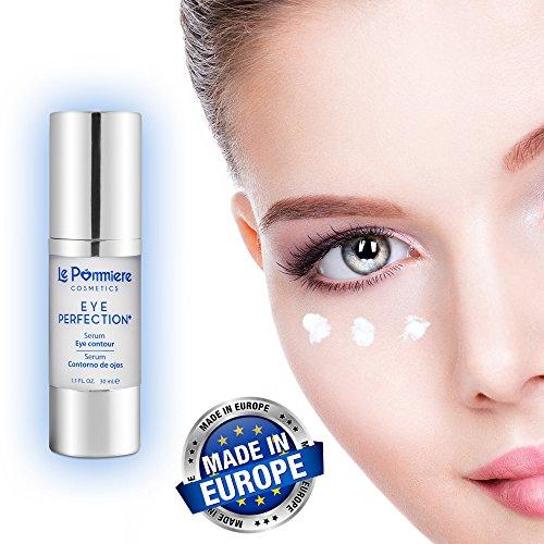 Le Pommiere serum contorno ojos anti edad 30ml con ácido hialurónico y colágeno. Crema anti arrugas, patas de gallo. Hidratante para una piel suave