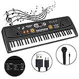 M SANMERSEN 61-Key Kids Keyboard Piano with LCD Screen Music Piano Keyboard