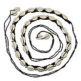 Freak Scene Cinturón de Moda con Conchas de cauri - Cinturón de Concha de Boho Hecho de algodón, 90cm - Modelo 06