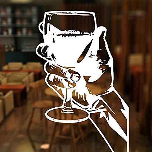 xiadayu Bar Restaurante Whisky Tequila Licor Fiesta Reunión Etiqueta de la Ventana Decoración de Vinilo Calcomanía de Pared Plana Papel Mural extraíble 42X65cm