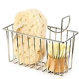 Product Image of the Kitchen Sponge Holder, Sink Basket Sink Caddy Brush Dishwashing Liquid Drainer Rack Silver, Medium