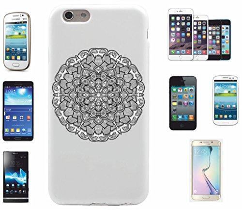 Carcasa para iPhone 5/5S/SE 'Mandala Kreis en blanco y negro | El must have' para primavera. Los motivos alegres y coloridos mandala cautivan tu smartphone y atraen todas las miradas.