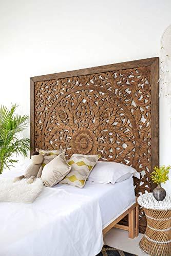 Hand Carved Indonesian Wood Headboard