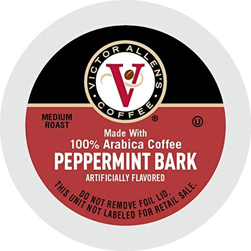 Victor Allen's Coffee Peppermint Bark K Cups, 80 Count (Compatible with 2.0 Keurig Brewers) (FG014612)