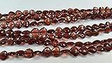 LOVEKUSH LKBEADS Mozambique Granate facetado forma de corazón Briolette taladro recto 6 mm, longitud es de 25,4 cm de largo, código HIGH-50877