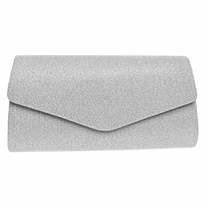 FASHIONROAD Evening Clutch, Womens Bling Envelope Clutch Purse For Wedding and Party