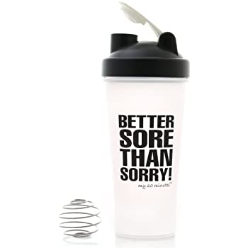 My 60 Minutes Shaker Bottles for Protein Shake Mixing Protein Water Bottle