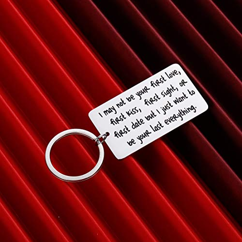 Wife Husband Couple Keychain for Him Her Men Woman Gift for Boyfriend Girlfriend Anniversary Wedding i May Not Be Your First Date Valentines Day Gifts Christmas Stocking Stuffer Keyring