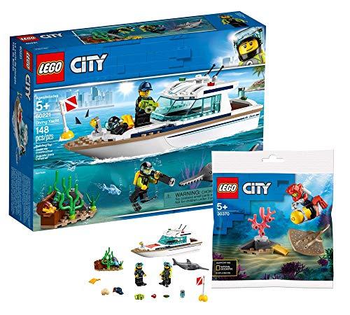 Collectix Lego 60221 Lego City - Juego de yate de buceo y buceador de aguas profundas Lego City 30370