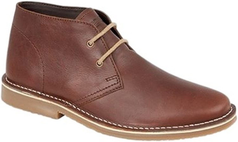 UK Roamers M063B Leather Desert Boot (Brown)