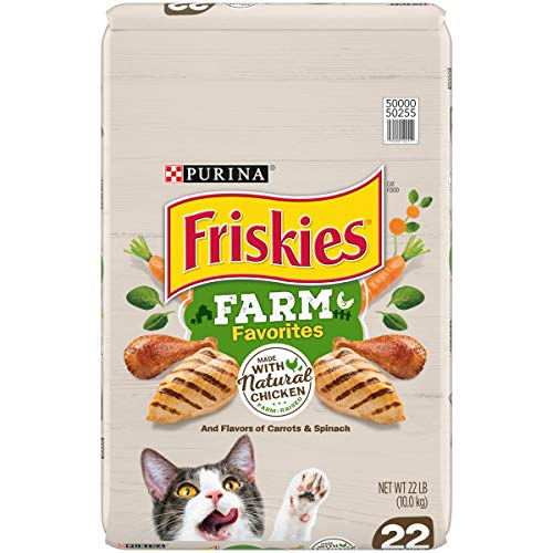 Purina Friskies Dry Cat Food, Farm Favorites with Chicken - 22 lb. Bag