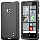 Dark Gray PROTEX Rubberized Hard Shell CASE Cover for Nokia Lumia 520 Phone