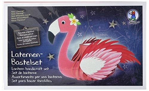 Ursus 18720008 - Laternen Bastelset, Flamingo, Set zum Basteln einer Laterne, für Kinder, inklusive Bastelanleitung, ideal für den nächsten Laternenlauf
