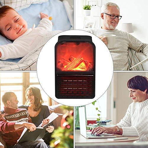 takestop Stufa ELETTRICA 1000W Flame Heater Portatile Effetto Fuoco CAMINETTO con Telecomando Spina...