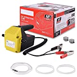 Oil Change Pump Extractor for Boat, Car, Tubes, Truck, RV,ATV, Riding Mowe,12V 60W Marine Oil Change Pump and Electric Oil Pump, Oil/Diesel Fluid Pump Extractor Scavenge with 2 hose clamps 3 hose tube